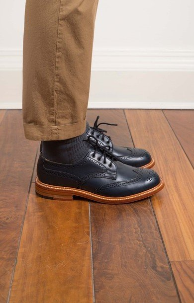 Anne Derby Brogue Navy Blue