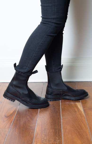 Silvia Boot Black Leather