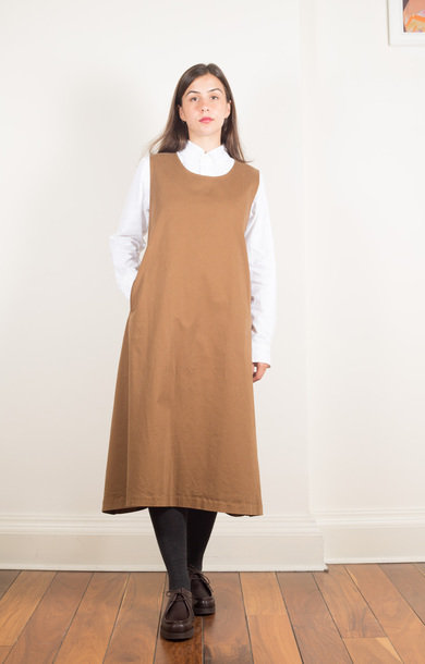 Foldable Apron Dress Brown