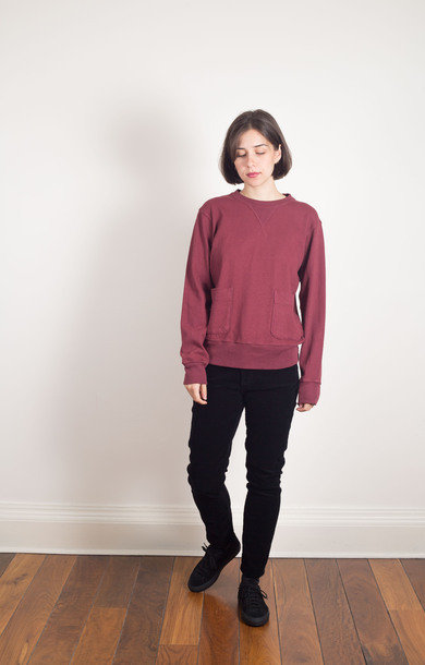 Heavy oz. Cotton Sweat Burgundy