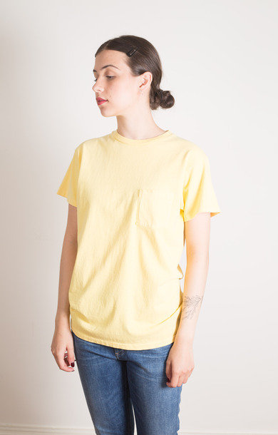 Pigment SS CN Tee W Pkt Yellow