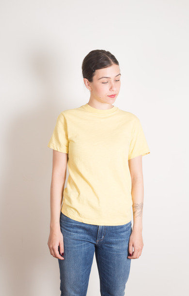 Rolled SS Regular Tee Lt Yellow