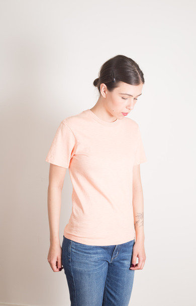 Rolled SS Regular Tee Pink