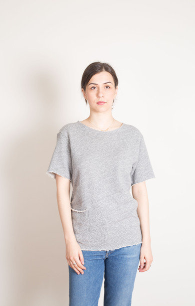STKY Cut Off Sweat Grey