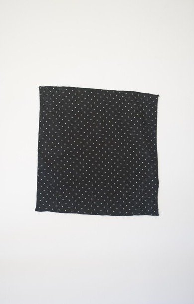 Mini Pocket Square Black