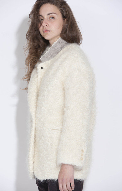 Gels Cream Wool Coat