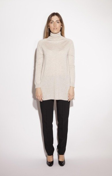 Alpaca Silk & Wool Sweater Ivory