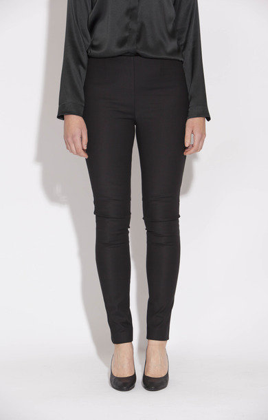 Corrado Stretch Satin Trousers Black