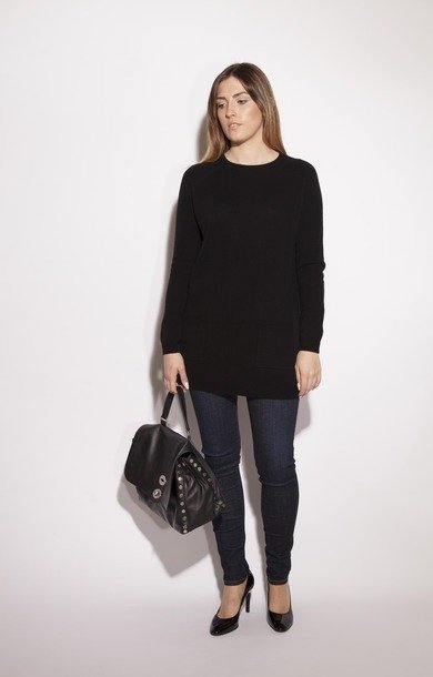 Pisano Wool & Cashmere Sweater Black
