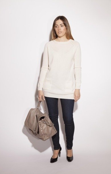 Pisano Wool & Cashmere Sweater Ice