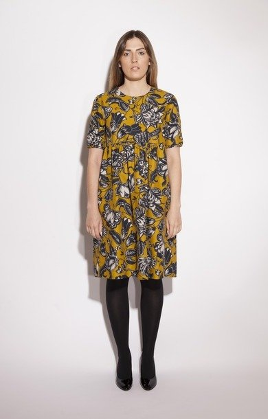 Tequila Cotton Faille Dress Yellow