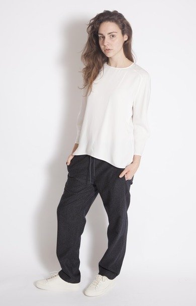 Brief Crew Neck Flared Top White